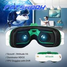 FatShark Scout 1136x640 Attitude V6 Dominator HDO 2 1280x960 OLED True Display FPV Goggles for FPV Racing RC Drone w/ DVR Toys