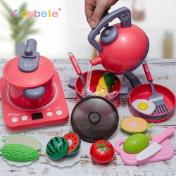 Kids Kitchen Toys Simulation Cooking Play House Educational Toys Mini Kitchen Cookware Pan Pretend Play Role Playing Toys