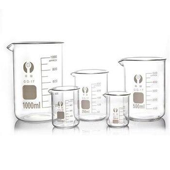 Beaker 4 Size Capacity 5ml-100ml Low Form Beaker Measuring Glass Chemistry Lab Borosilicate Glass Transparent Beaker 50ml 12pcs set pyrex beaker borosilicate glass lab glassware chemical measuring cup flat bottom for scientific test