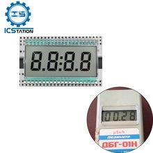 EDC190 12 Pin TN Positive 4 Digits Segment Clock Static LCD Display Panel Digital Tube No Backlight 30% Transmittance Mode