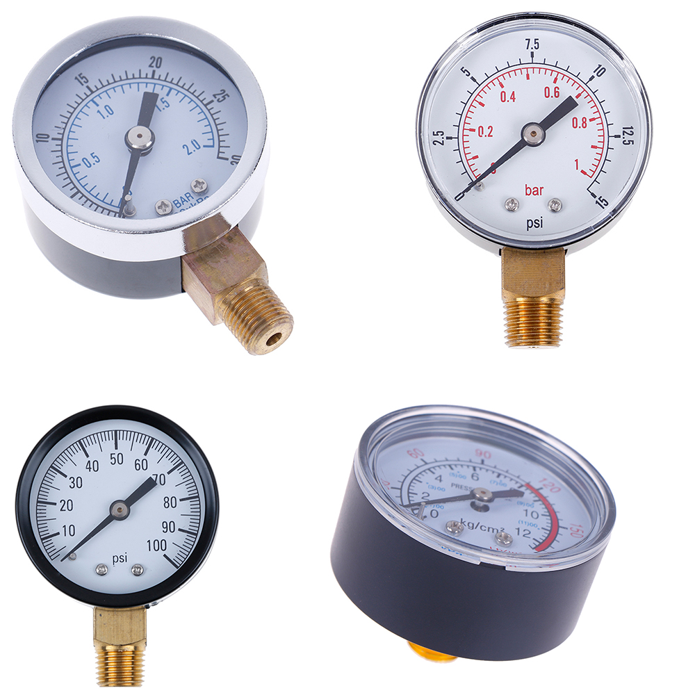 1pc Pressure Gauge Low Pressure For Fuel Air Oil Gas Water Oil Gas Measurement 22/25/40/50mm Diameter