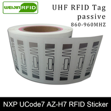 RFID стикер UHF NXP Ucode7 AZ-H7 влажная инкрустация 915mhz 900 868mhz 860-960MHZ EPCC1G2 6C смарт-карта adhensible Пассивная RFID Метка