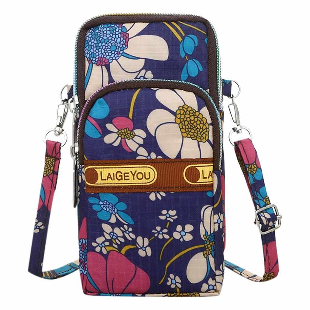 2019 moda nowy kobiety rozrywka kwiaty projekt torba podróżna z zabezpieczeniem przeciw kradzieży crossbody torba Nylon torby na ramię wysokiej jakości