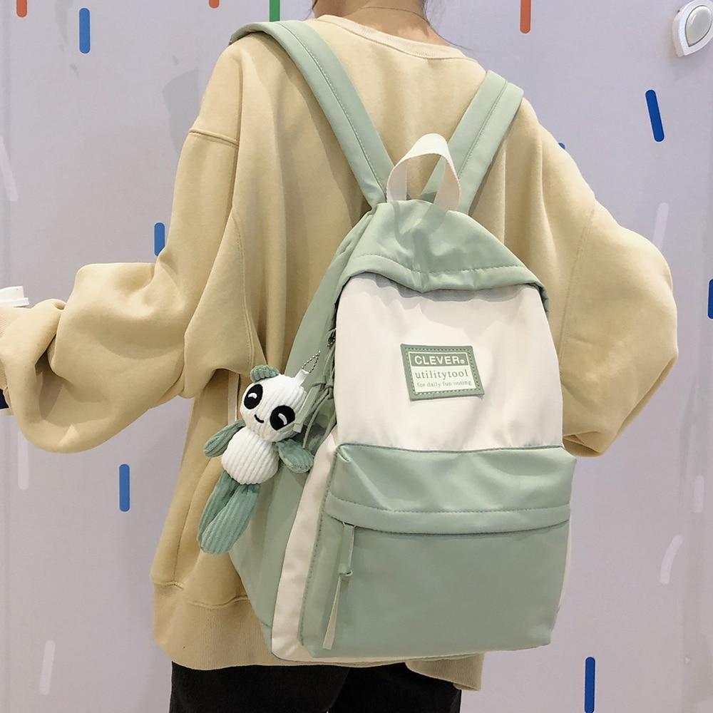 Cute Women's Backpack Waterproof Oxford Cloth Bagpack Lightweight Teenager School Bags Girl Backpack