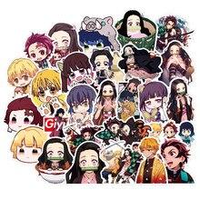50 Pcs Hot Japan Anime Kimetsu Geen Yaiba Stickers Decal Vinyl Voor Auto Gitaar Laptop Skateboard Demon Blade Slayer Sticker
