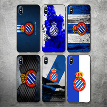 Yinuoda Phone Case For RCD Espanyol FC For DIY Picture Black Shell Silicon Soft TPU Cover For iPhoneX XR XS MAX 7 8 7plus 6 6S real sociedad rcd espanyol