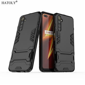 """HATOLY For Armor OPPO Case OPPO AX5 Case A3S Shockproof Robot Hard Silicone Rubber Pokrowiec na telefon dla OPPO AX5 A5 2018 6.2 """""""