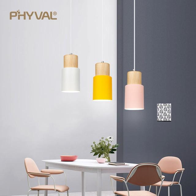 Modern Pendant Lights Nordic Wood Light Loft Pendant Lamps E27 220V for Dinning Room Home Decoration Restaurant Lamp Hotel
