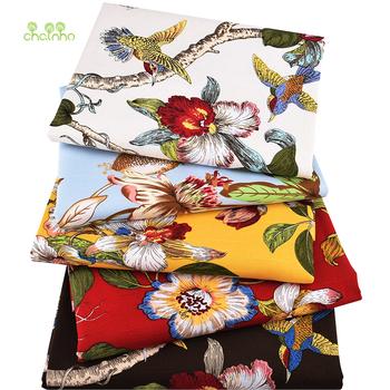 Chainho ptaki i wzór w kwiaty tkanina bawełniana płócienna ręcznie robione tkaniny do szycia ubrania na sofę kurtyna torba materiał dekoracyjny domu tanie i dobre opinie wyszywana CN (pochodzenie) Przyjazne dla środowiska Płótno tkaniny None 150cm Inna tkanina 100 bawełna PRINTED Slub