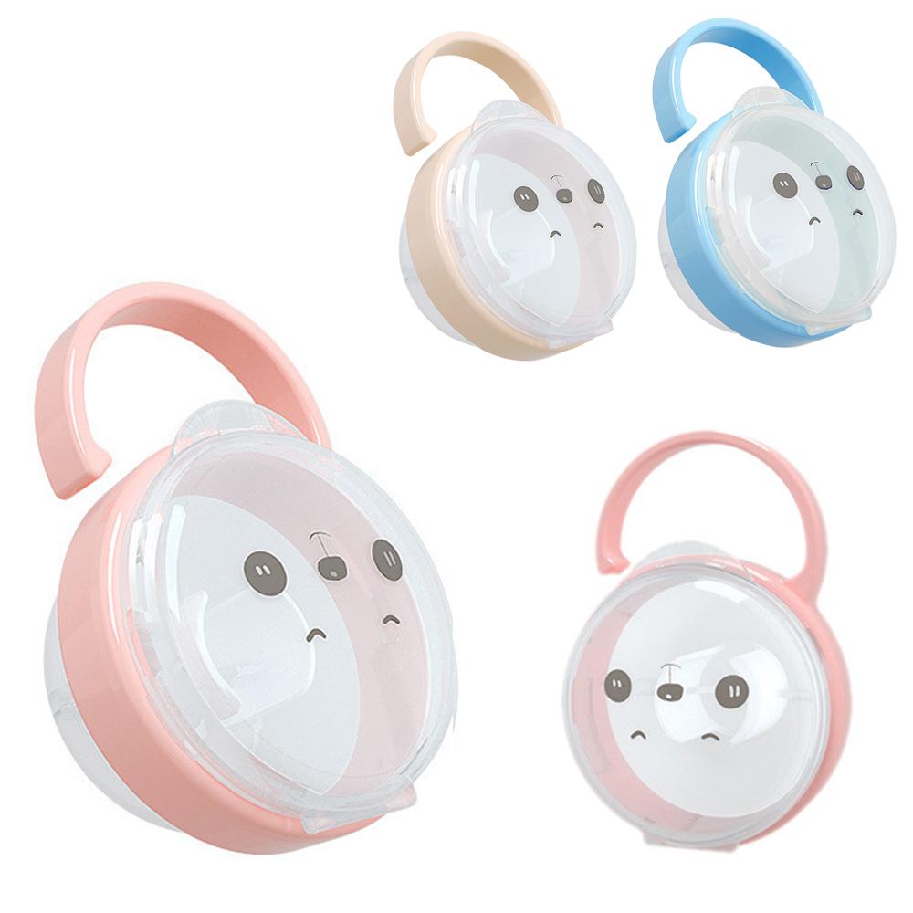 Baby Pacifier Storage Box Kid Travel Case Cartoon Panda Portable Nipple Storage Box Soother Container Holder Pacifier Accessorie