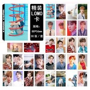 30 шт./компл. Kpop Bangtan boys JIMIN новая карта SOUL PERSONA Boy LUV Lomo открытка самодельный фотовентилятор подарок
