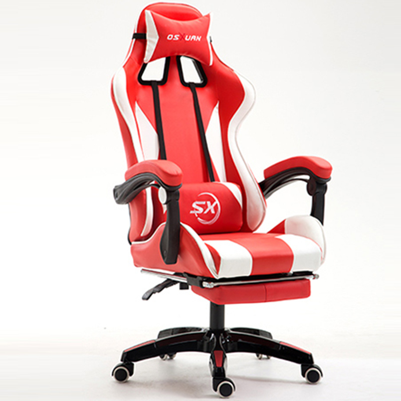 Racing Synthetic Soft Leather Cyber Games Chair Internet Cafes Computer Chair Lying Household Office Chair