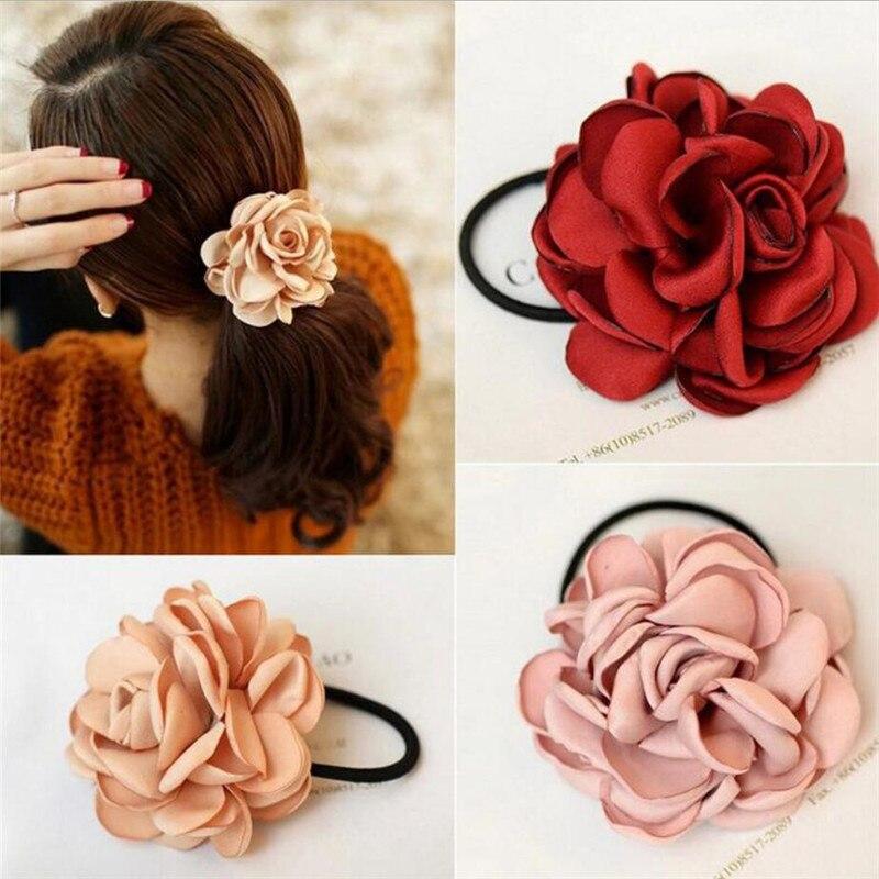 Head-Wear-Accessories Hair-Holders Rubber-Bands Flower Elastics Girls Hot-Sale Women