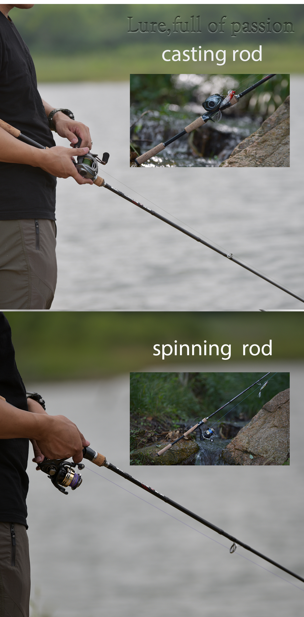 Obei HURRICANE 3 section Bait Casting Fishing Rod in Telescopic Design for Fast Casting and Clear Biting 14