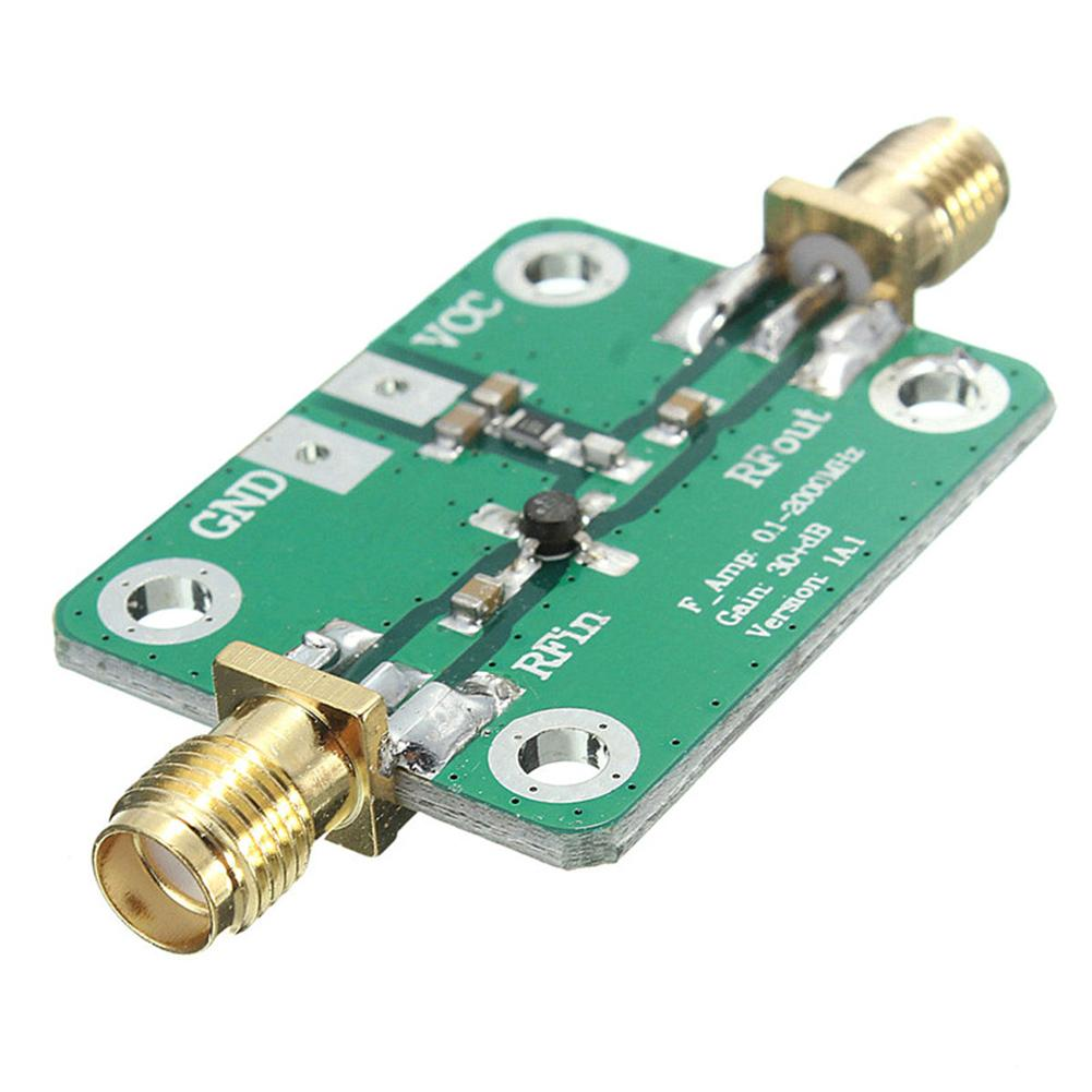 New 1-2000MHz High Frequency RF Wideband Amplifier 30dB Gain Low Noise LNA Module