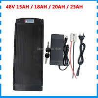 48V batterie 20AH 1000W 48V support arrière batterie 48V 15AH 18AH 20AH 23AH 30A BMS 2A chargeur livraison gratuite
