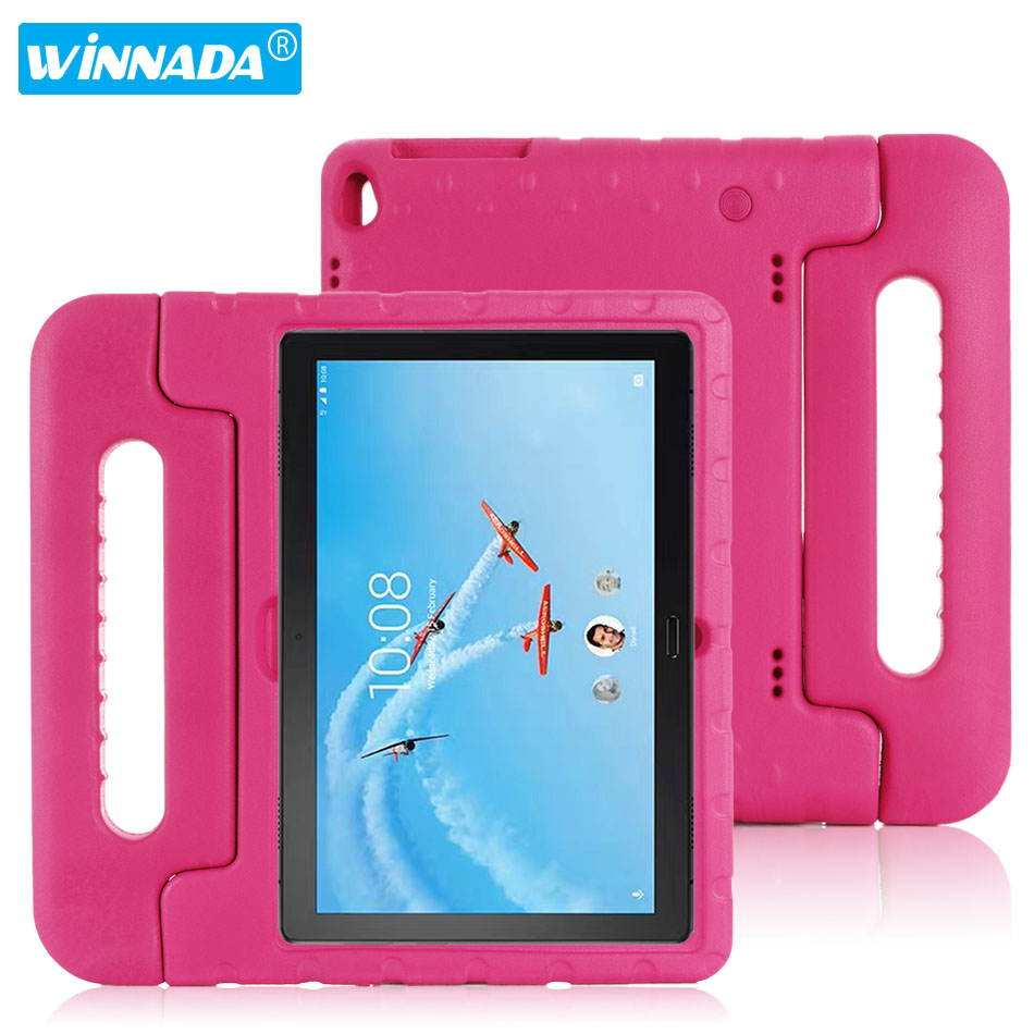 For <font><b>Lenovo</b></font> Tab P10 case hand-held full body Children kids EVA Handle stand tablet cover for <font><b>lenovo</b></font> tab M10 10.1 inch image