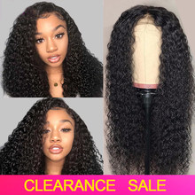 Curly Lace Front Human Hair Wigs Tuneful 150% 13x4 Pre Plucked Hairline Jerry Curl Lace Frontal Wig 100% Malaysian Remy Lace Wig(China)