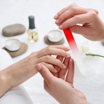 24 Pcs Nail Files Glass Nail Files Fingernail File Nail Care Manicure Tools Set, Gradient Rainbow Color Buffer Manicure Tools 5