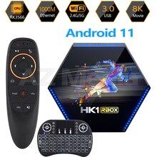 RK3566 جهاز فك تشفير الإشارة مع Android 11 2021 ، HK1 RBOX R2 RK3566 ، مشغل وسائط ، شبكة wi fi مزدوجة 2.G/ 5.8G LAN 1000M BT4.0 4K HD ، صندوق تلفزيون 8GB/4GB