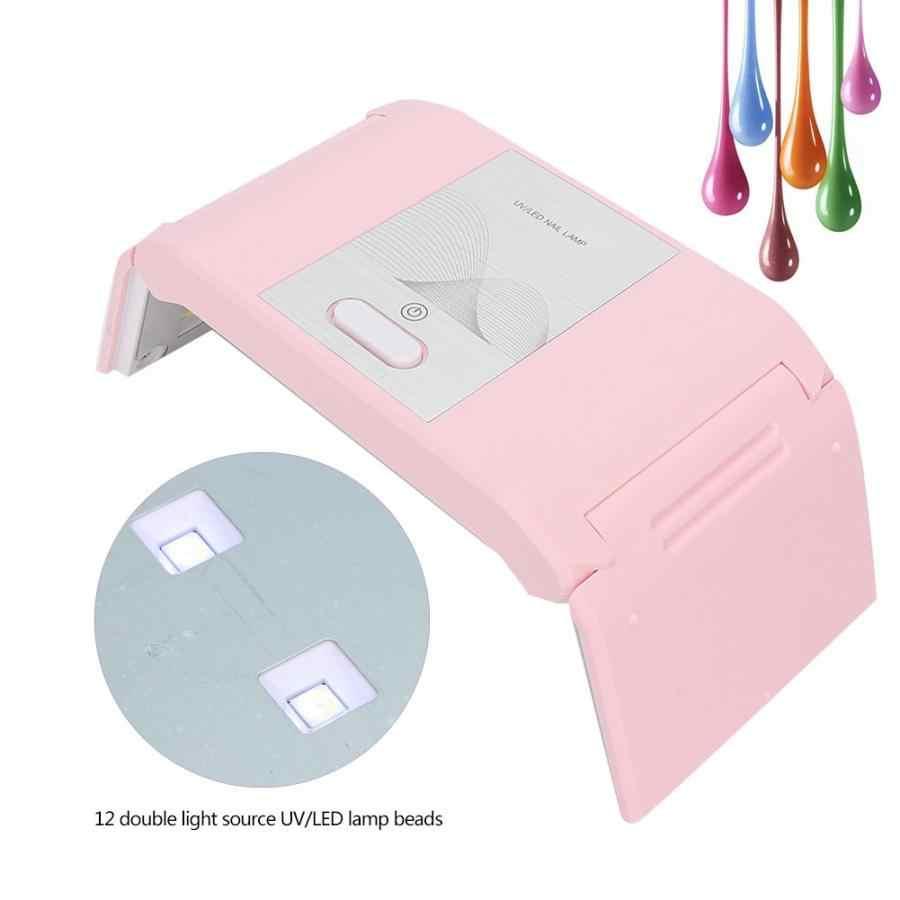 Uv מנורת 24W מתקפל נייד נייל מנורת USB LED ג 'ל לק מייבש מכונת Led מנורה
