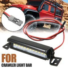 цены 5V-7.4V Light Bar Super Bright For 1/10 RC Crawler Super Bright 12LED Light Bar Roof Lamp For 1/10 Crawler Car
