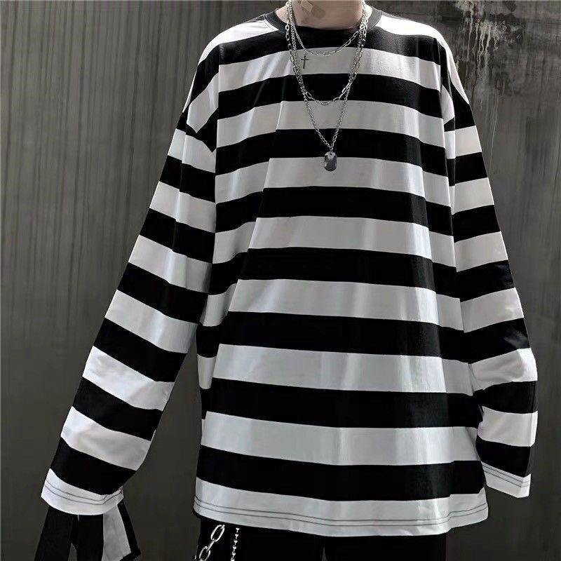 2020 Autumn Fashion Mens Strip Hoodies Korean Hip Hop Loose Casual Sweatshirts Women Oversized Hoodie Plus Size Clothes Males