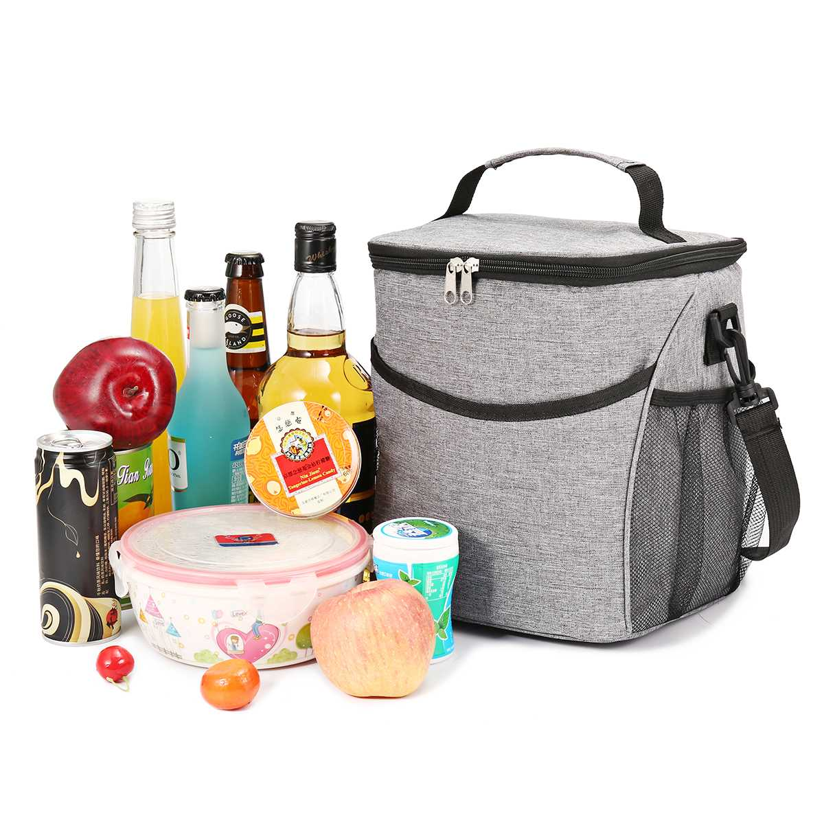 Portable Lunch Bag 9L Thermal Insulated Lunch Box Cooler Handbag Bento Pouch Dinner Container Picnic School Food Storage Bags
