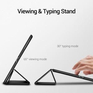 Image 3 - ESR for iPad Mini 5 Case Soft Flexible Rubberized Trifold Shockproof Smart Case with Pencil Slot for iPad Mini 5 2019 Full Cover