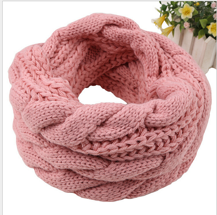Ladies Women Winter Knitted Crochet Long Snood Tube Scarf Shawl Neck Warmer 9 Colors