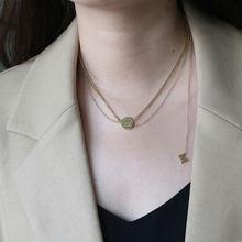 Женское многослойное ожерелье с бахромой amaiyllis 14k gold