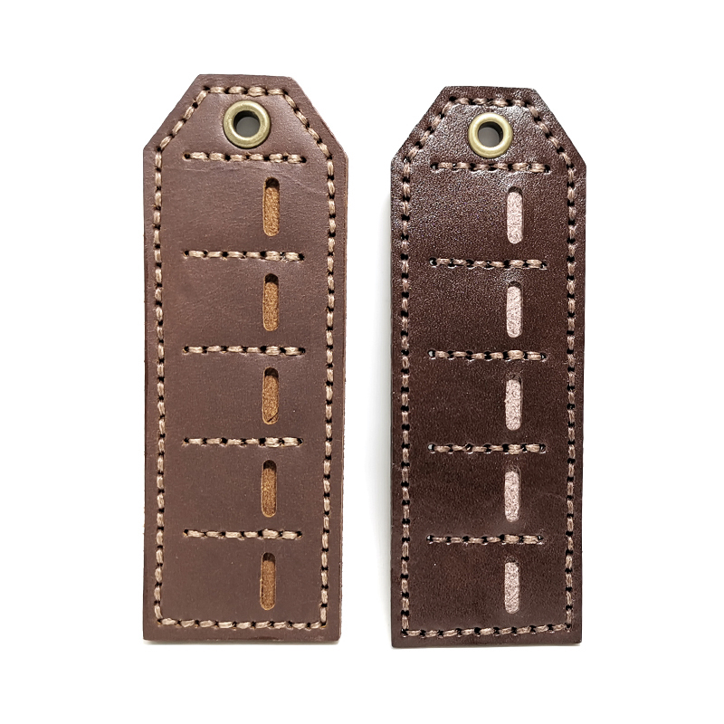 A180 free shipping Oil wax leather / vegetable tanned leather EDC batch holster Storage and storage strip 5 hole tool bag