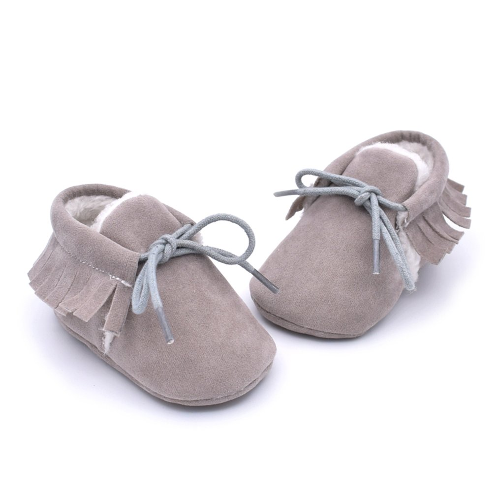 M613 Fashion Matching Color Cute Design Baby Prewalker Soft Antiskid Kids Shoes Casual Walking Fringed Boots For Daily Dress