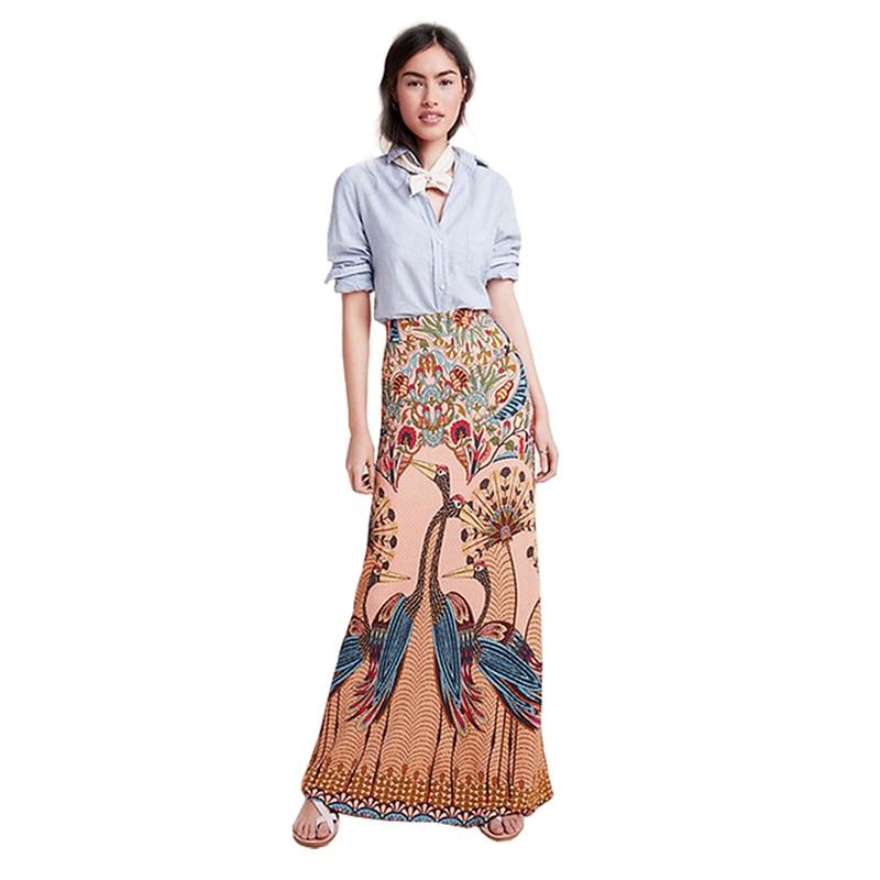 Fashion Long Skirt for Women Winter New Explosion Women 39 s Print Bag Hip Skirt Korean Style High Waist Skirt Women Clothes 2019 in Skirts from Women 39 s Clothing