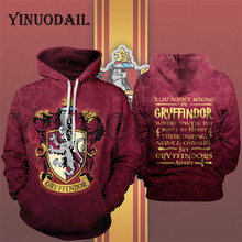YINUODAIL Mens Sporting Hoodies Gryffindor Streetwear Cosplay Costume Wizardry Hoody Sweatshirt(China)