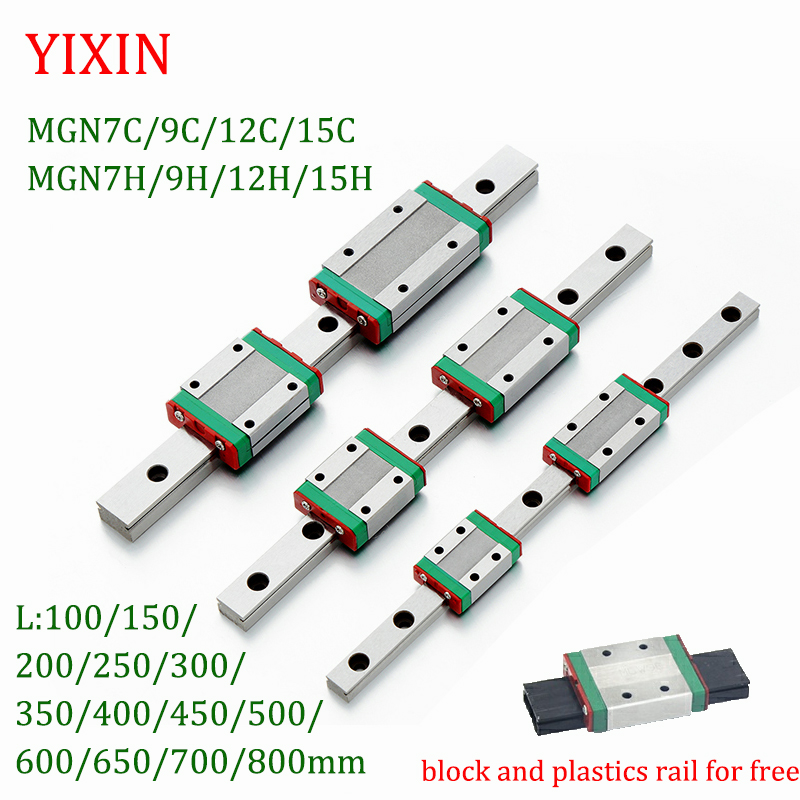 Transporte MGN12 cnc trilho de guia linear de slides linear Impressora 3D MGN7 MGN12 MGN15 MGN9 L 100 350 400 500 600 800 milímetros em miniatura