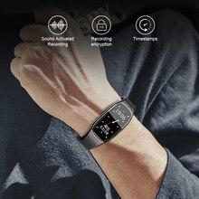 XIXI SPY dyktafon dyktafon audio mini sound profesjonalna mikro cyfrowa aktywowana bransoletka do zegarka MP3