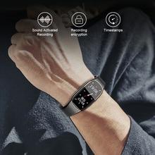 XIXI تجسس مسجل صوتي إملاء الصوت صوت صغير المهنية مايكرو الرقمية المنشط سوار ساعة MP3
