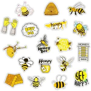 """50 шт в наборе, милые наклейка «пчела» Игрушки для детей подарок мультфильм Мёд броши в виде бабочек, насекомых, животных, наклейки """"сделай сам"""" для ноутбука телефон холодильник чайник велосипед Автомобильная переводная наклейка"""