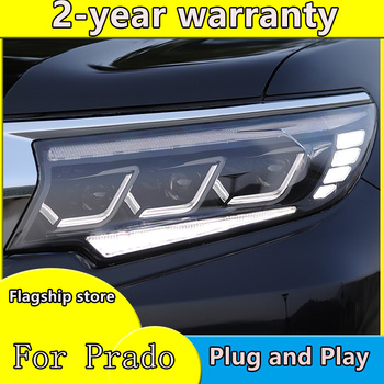 Car Styling Head Lamp for Toyota Prado Headlights 2018-2019 New Prado LED Headlight DRL All LED light Source Accessories