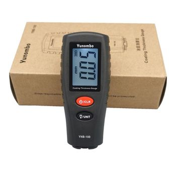 Yunombo Digital Backlight LCD Film Thickness Meter Car Paint Thickness Tester Coating Thickness Gauge YNB-100 1