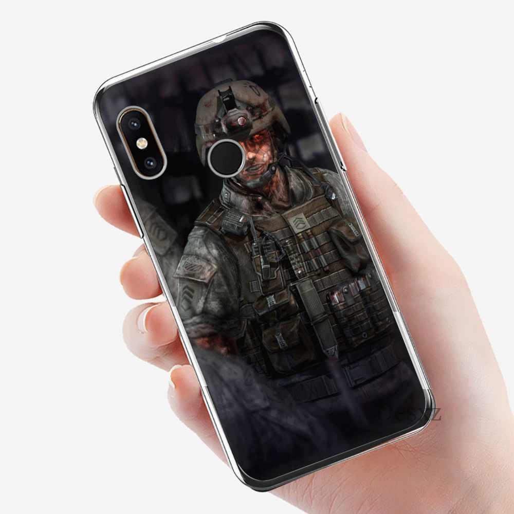 מקרה טלפון נייד Tpu לxiaomi Redmi הערה 7 8 פרו 4 הערה 4X5 5A 6 כיסוי מלחמה של זומבים מעטפת הגנה