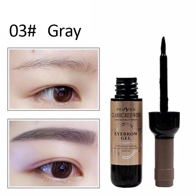 Classic  Eyebrow Gel Cream  Red Wine Tearing Eyebrow Gel Dyeing Eyebrow Cream Waterproof Anti-staining Lasting Makeup Enhancer 4