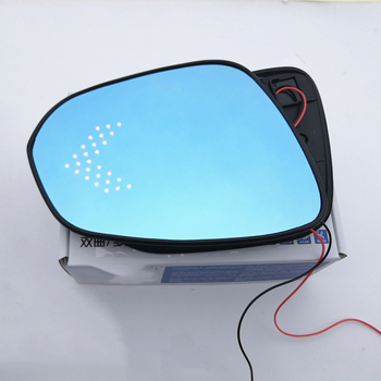 Blue Wing Mirror Glass Heated Angle Wide Glare Proof LED Turn Signal Lamp for Toyota Fortuner NOAH VOXY 80 2014 2015 2016 2017-