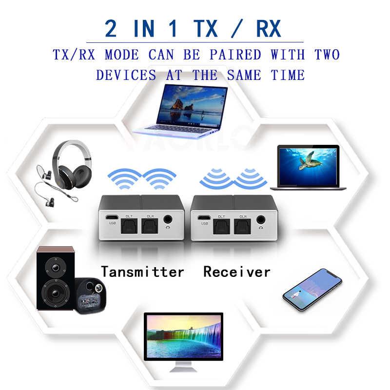CSR8675 5.0 odbiornik transmisji Bluetooth optyczny 3.5MM AUX Audio Aptx HD AAC SBC krótki czas oczekiwania adapter bezprzewodowy do telewizora PC samochód