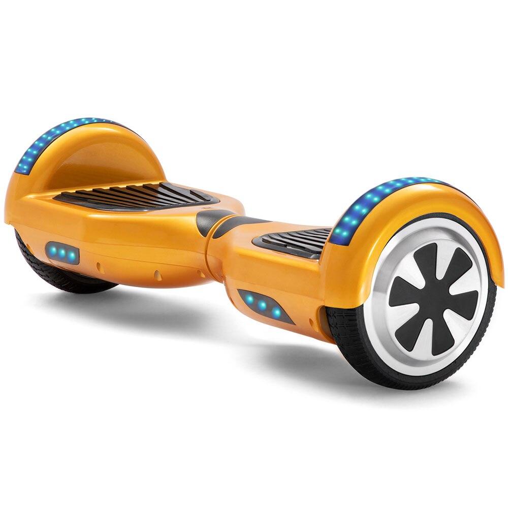 Дешевый 6,5 дюймов золотой Электрический Скутер 2 колеса Ховерборд LED Bluetooth самобалансирующийся СКУТЕР баланс доска 700 Вт + дистанционный ключ...