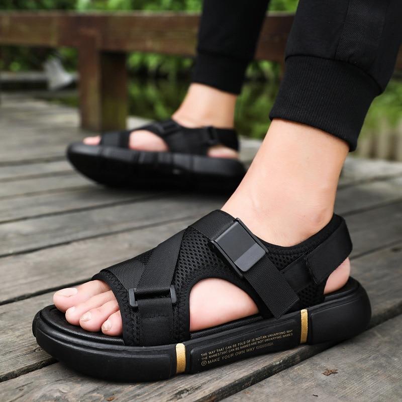 Outdoor Breathable Comfort Slip On Plus Size Open Shoes Casual Men Sandals Summer Shoes Sandal Mens PVC Sandalias  NANLX4