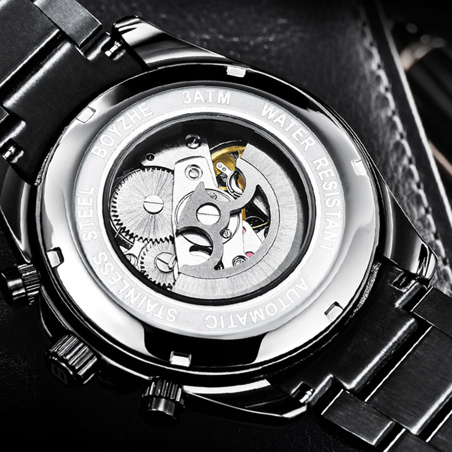 Men's mechanical Casual Stainless steel watch 2