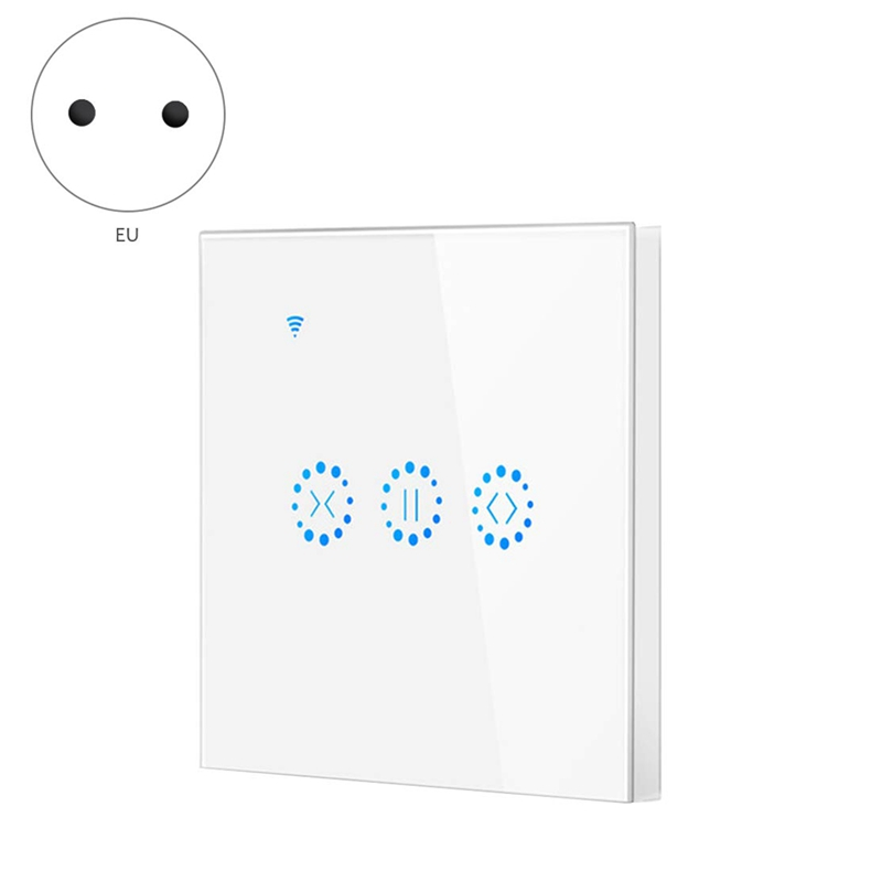 Top-EU Plug,Smart Home WiFi Electrical Press Smart Blinds Curtain Switch Voice Control By Alexa Echo Google Home Blinds Motor