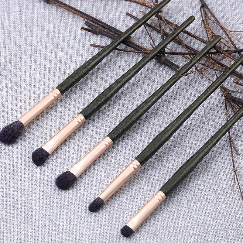 5Pcs High Quality Goat Wool Makeup Brush Set Eyeshadow Concealer Matte Brush Professional Shadow Kit Multi-Functional Shadow
